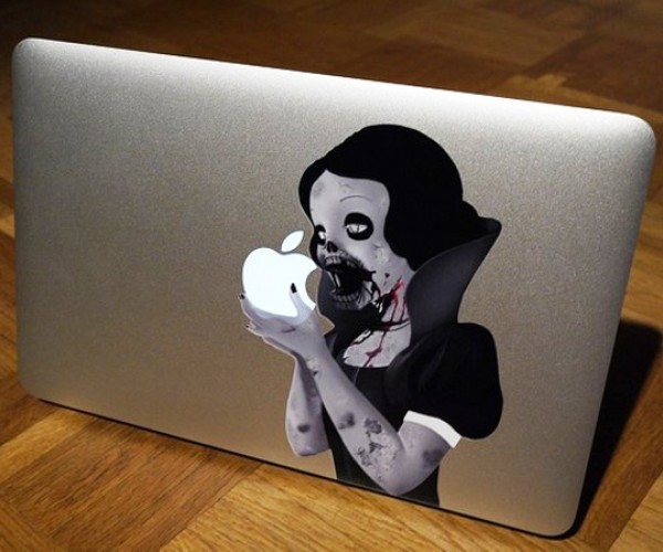 Zombie Snow White MacBook Decal: Freak'em Out Instead of Charmin'em