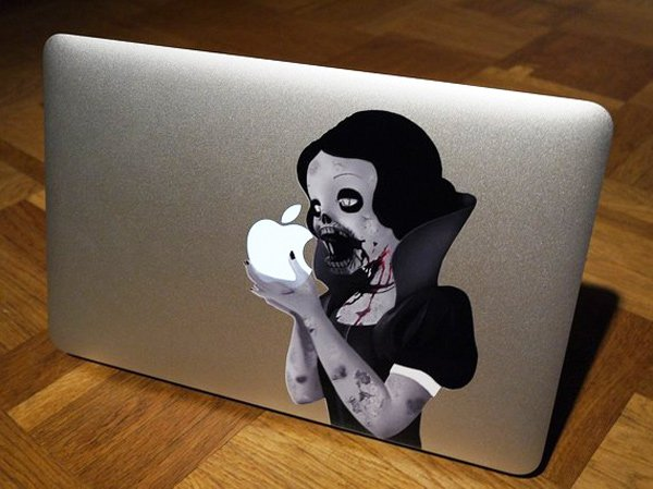 zombie macbook decal vinyl snow white princess goth stickerman