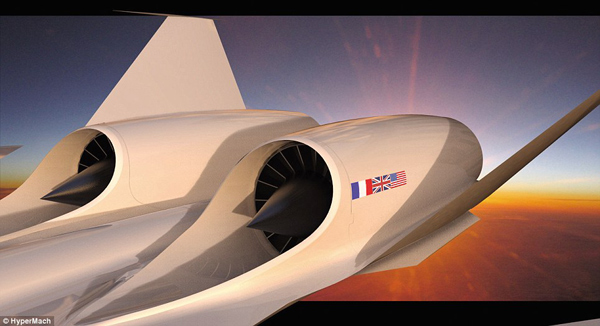 sonicstar hypermach jet supersonic concorde future tech