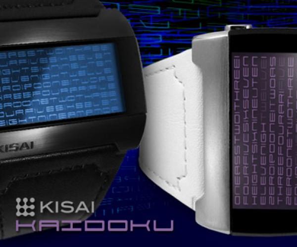 Tokyoflash Kisai Kaidoku: Telling Time with Text