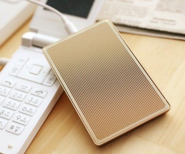 Card-Case Speaker: Keep a Speaker in Your Pocket