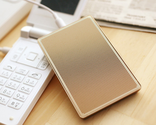 card case speaker japan metallic portable usb audio