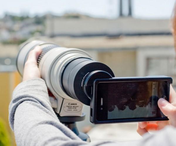 dslr lens mount canon nikon iphone 4 photojojo