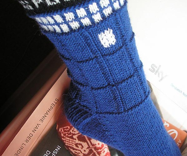 TARDIS Socks: No Bigger on the Inside than Out, Still Bigger at the Calf than Ankle