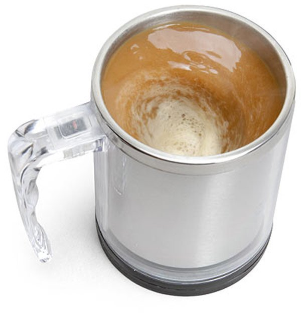 thinkgeek self stirring mug