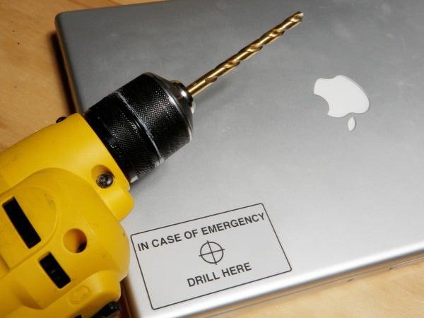 hacker easy hard drive destroy drill