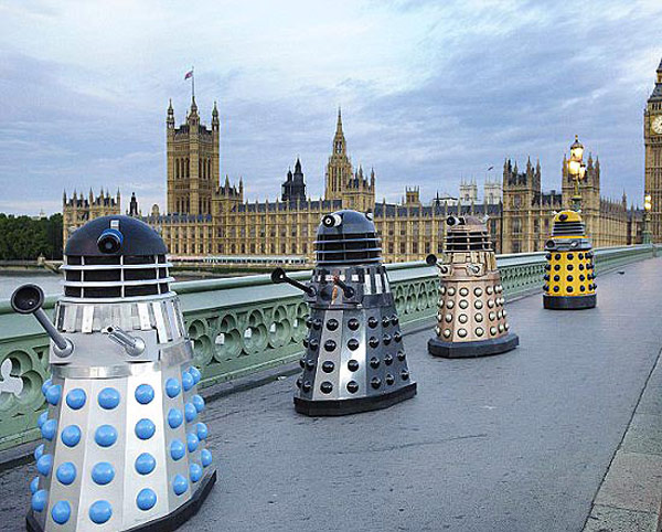 dalek doctor who bbc exterminate london