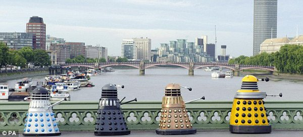 dalek doctor who bbc exterminate london
