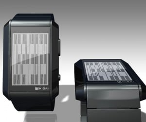 Tokyoflash Right Angle Concept Watch Goes from Cryptic to Legible with a Flick of the Wrist