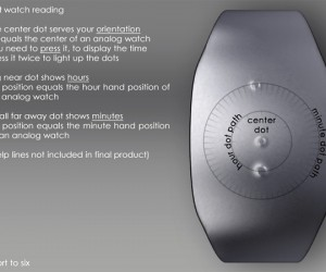 samuel jerichow dot watch touch based time timepiece