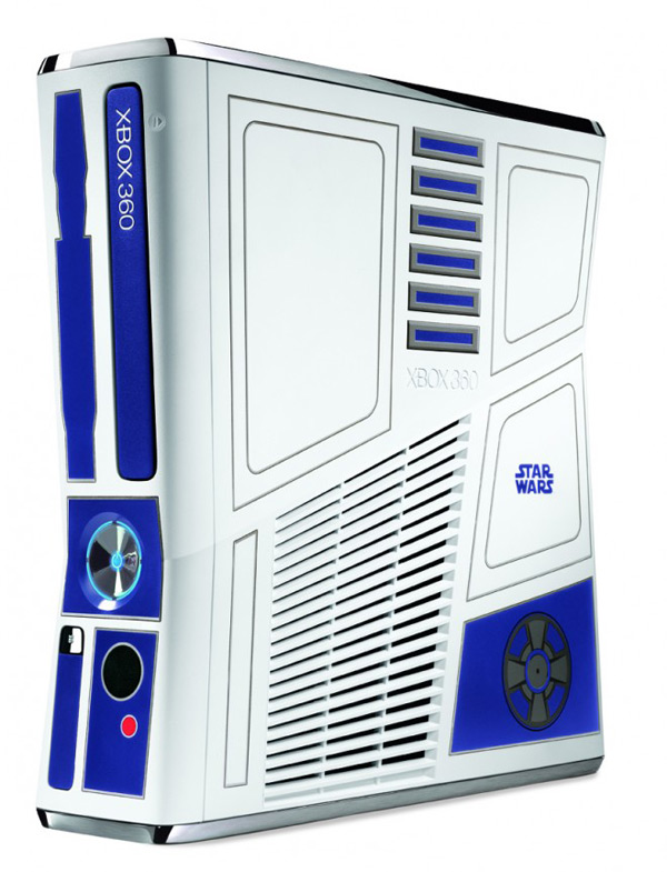 star wars xbox 360 limited edition r2-d2 c-3p0 droids