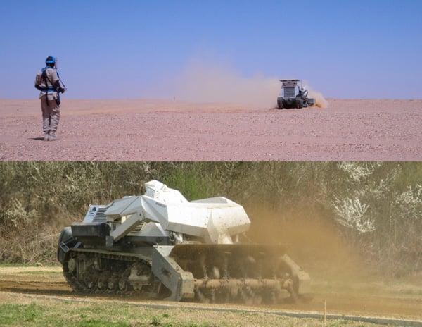 digger d-3 tank robotic mine landmines minefield