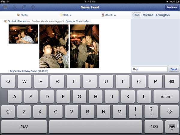 facebook iphone ipad app hidden code
