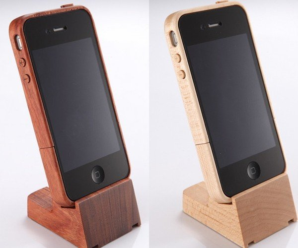 iTimber iPhone 4 Cases & Stands: Wood Is Good!