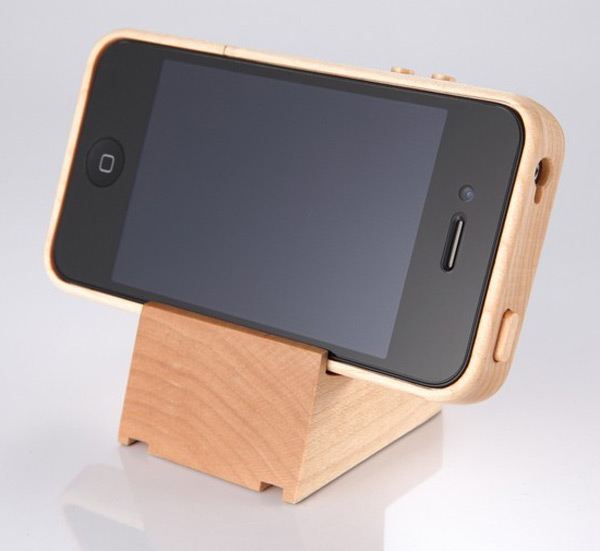 iTimber kencheng88 iphone 4 case stand wood apple