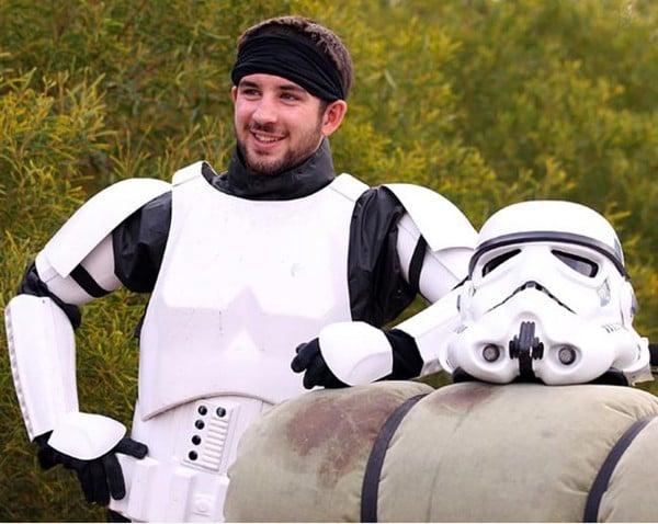 Australian Stormtrooper Walks For Charity