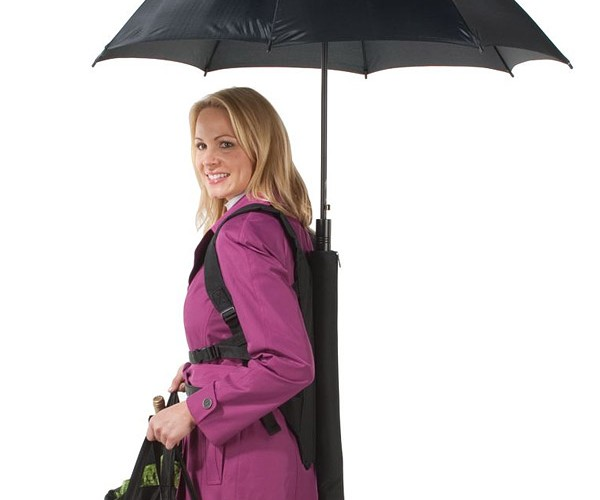 Backpack Umbrella Keeps Hands Free While Keeping You Dry