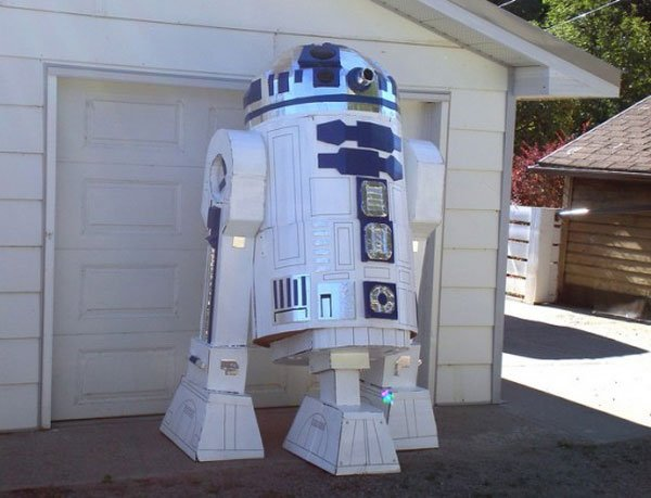 Cardboard Duct Tape R2d2 2