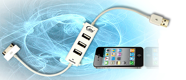 dits iphone charge sync cable usb hub