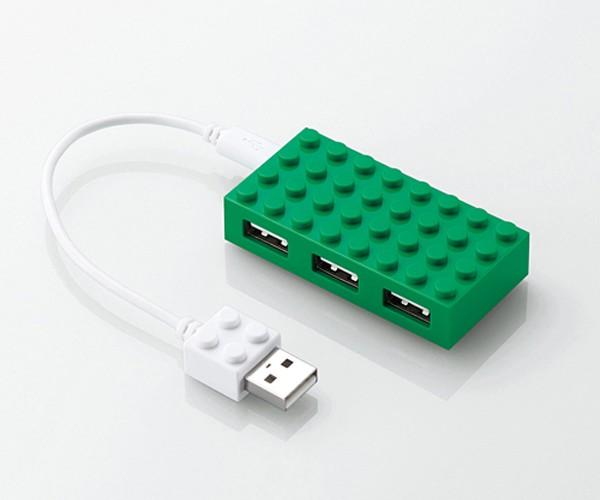 elecom lego toybrick usb hub 4