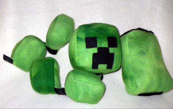 exploding minecraft creeper plushie by threnodi 2