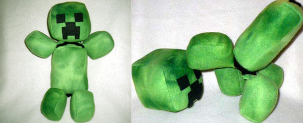 exploding minecraft creeper plushie by threnodi 3