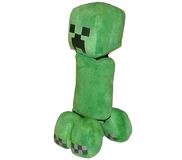 exploding minecraft creeper plushie by threnodi