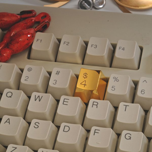 gold plated 4 keyboard key by marti guixe 2