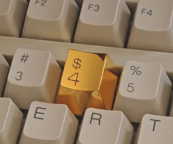 Gold $4 Keyboard Key: Not My Type