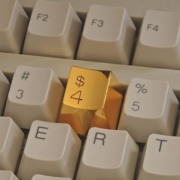 gold plated 4 keyboard key by marti guixe