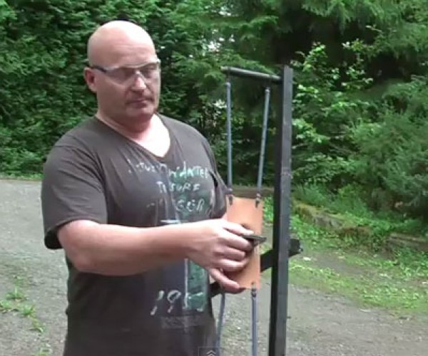 Joerg Sprave's Latest Zombie Killing Slingshot Uses iPhones as Ammo