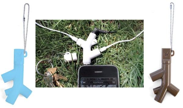 kikkerland music branch headphone splitter