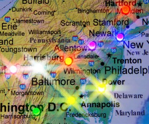 LED Maps Light Up Wherever You've Been, or Where You're Going