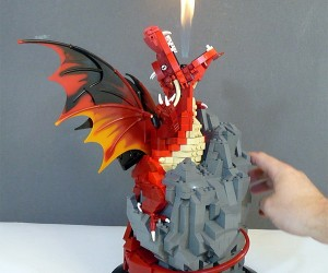 LEGO Dragon Actually Breathes Fire!