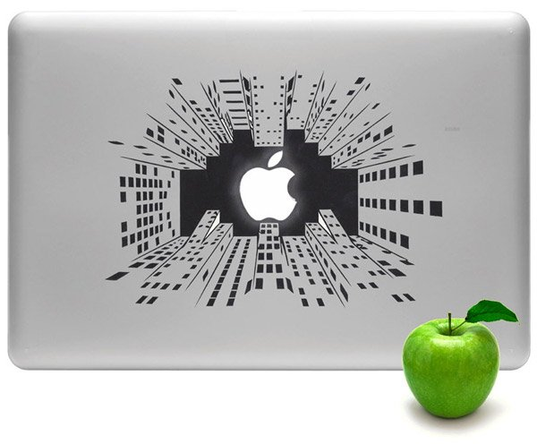 macbook city skyline