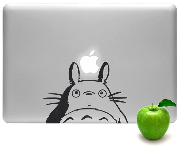 macbook totoro sticker
