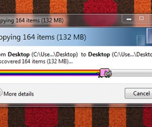 Nyan Cat Progress Bar Will Have You Shuffling Files All Day