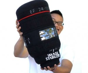 Giant Lens Plush Pillows are Perfect for Your DSLR Body