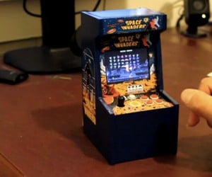 Tiny Space Invader Arcade Cabinet: Easy to Look at, Hard to Play on