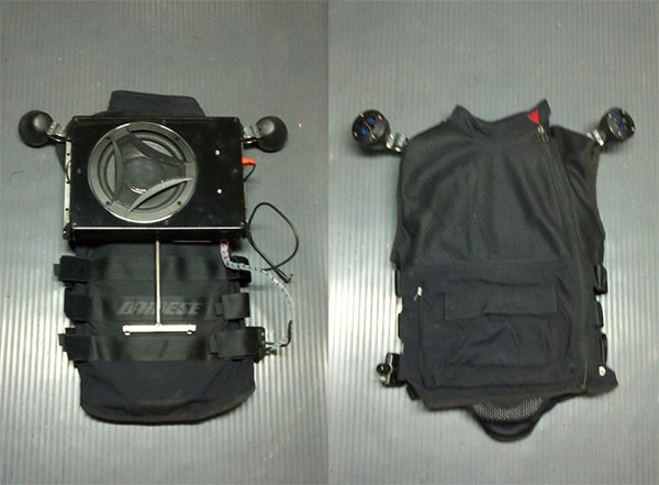 speaker vest with 8 inch subwoofer by megaplow