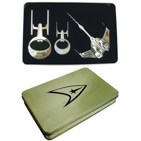 star trek bottle opener tin gift set 2