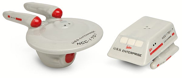 star trek enterprise shuttle salt pepper shakers