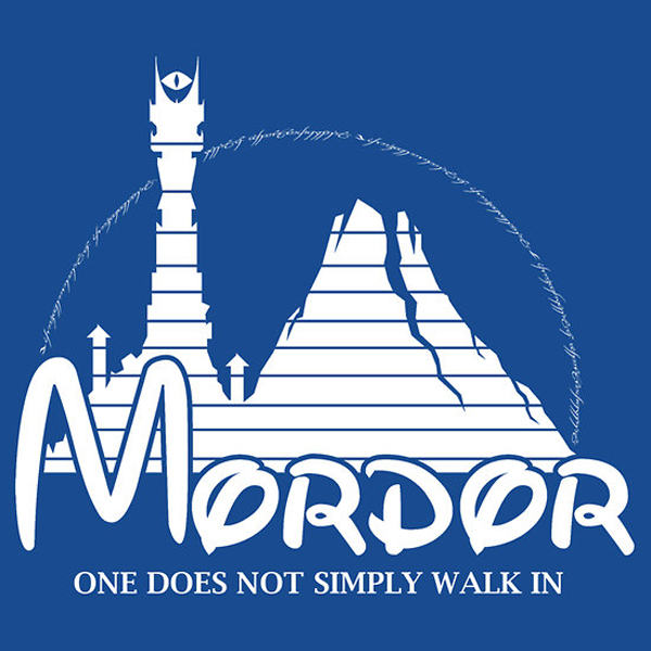 the happiest place in middle earth t-shirt by famousafterdeth