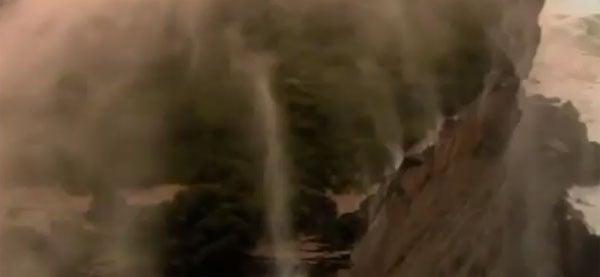 Waterfall Flowing Upwards