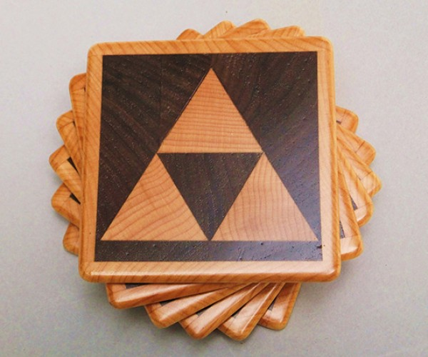 Zelda Triforce Coasters: For a Drink to the Past (or Present, or Future)