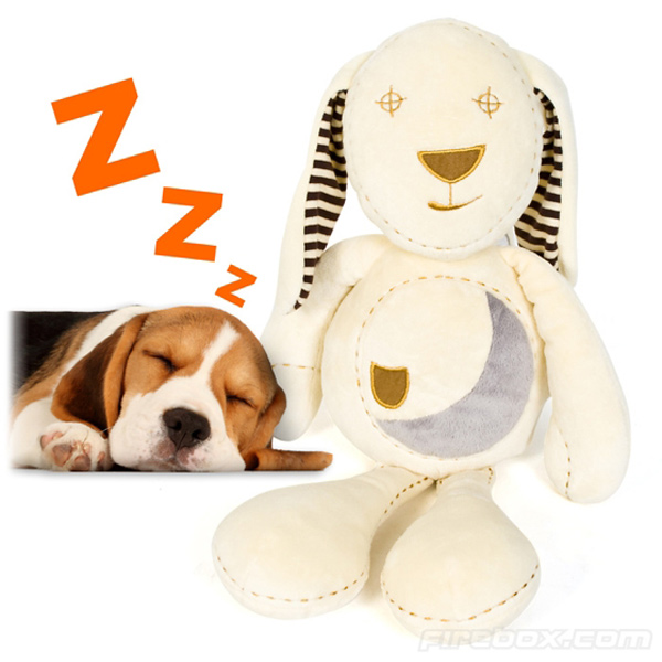 sleepy bunny puppy toy doll soothe sleeping plush