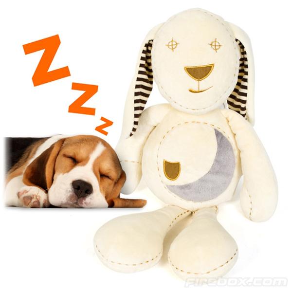 sleepy bunny puppy toy doll soothe sleeping plush