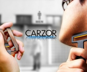 Carzor Credit Card Razor: When You're Late and Need a Shave