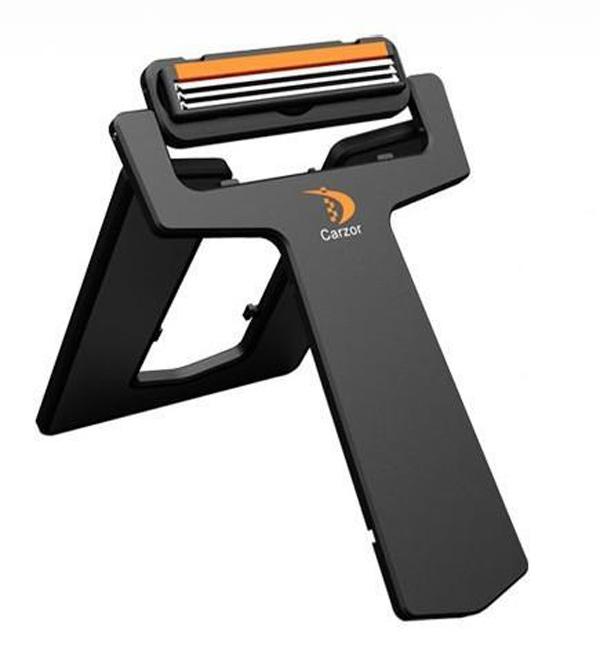 carzor razor credit card travel pocket mirror