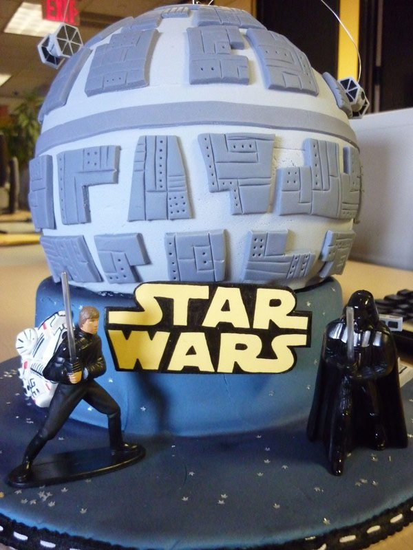 death star wars cake luke darth vader rachel linhart